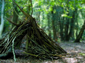 Woodland stick den