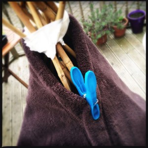 Use blankets to cover your den and secure with pegs