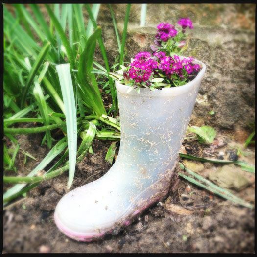 How to make a wellington boot planter