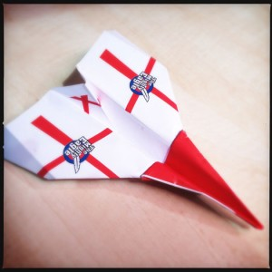 The finished paper plane design