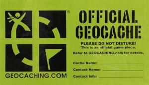 Geocache label
