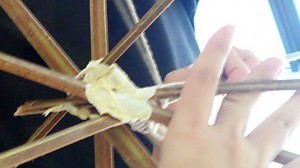 Use masking tape to join the bamboo together