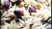 Campfire wild rice and peas