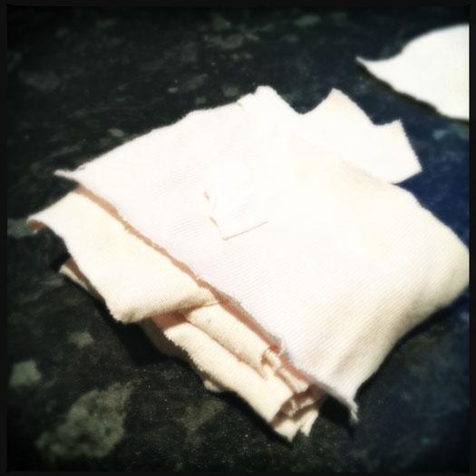 Char cloth squares
