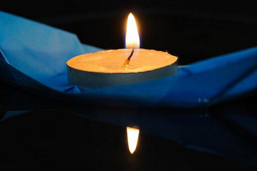 Joie - Candle holder origami, white - Habitat | 334x500
