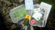 An opened geocache