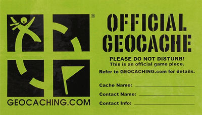 Geocache label