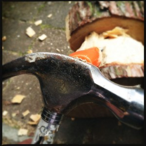 How to use a chisel - use the side of the hammer head