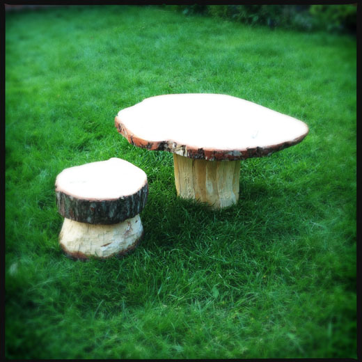 How to make toadstool furniture