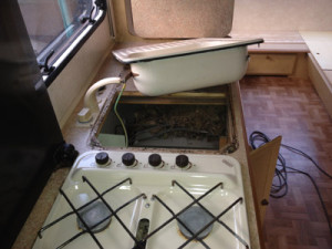A simple caravan sink can be an expensive replacement